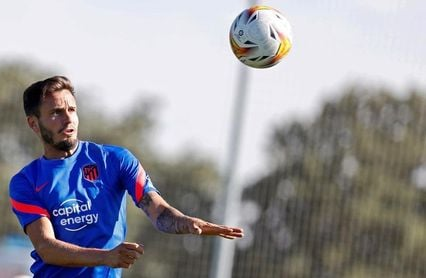 Saúl centra las miradas en la tercera jornada de concentración del Atlético