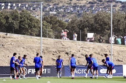 El Atlético de Madrid pone el punto final a su concentración en Segovia