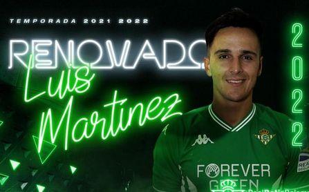 El Real Betis hace oficial la renovación de Luis Martínez