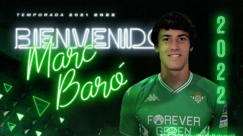 Oficial: Marc Baró, nuevo jugador del Betis Deportivo.