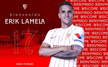 OFICIAL: Erik Lamela, nuevo jugador del Sevilla FC