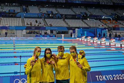 Las nadadoras australianas ratifican su dominio con triunfo 4x100 estilos
