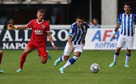 Imagen del encuentro entre la Real Sociedad y el AZ Alkmaar.