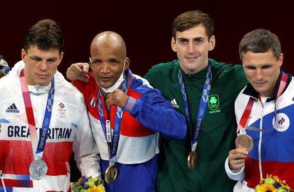 El cubano Roniel Iglesias gana el oro en el peso welter