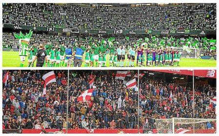 Las aficiones de Sevilla FC y Real Betis quieren volver a sus estadios ya
