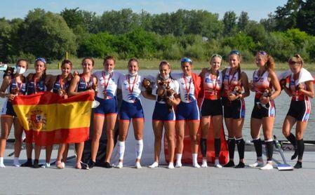 Doble plata para el remo andaluz en la Copa de la Juventud