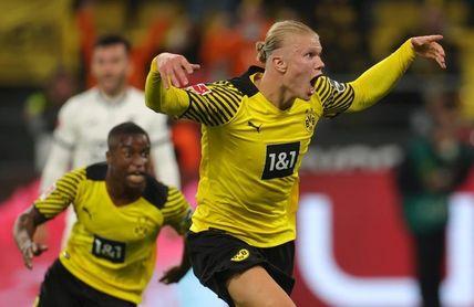 Haaland rescata al Borussia Dortmund en el tiempo de prolongación