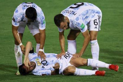 Scaloni admite que se asustó con Messi y confía en su recuperación