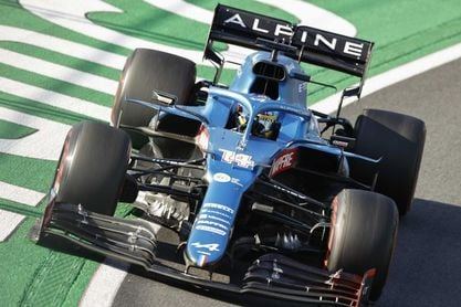 """Alonso:""""Contento; los sábados están bien, pero las carreras son los domingos"""""""