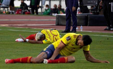 Andrés Andrade, otra baja de Colombia para partido contra Chile