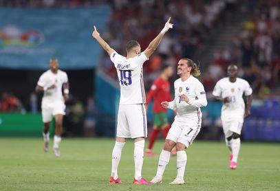 2-0. Griezmann y Benzema resucitan a Francia