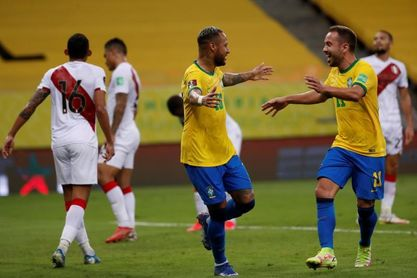 2-0. Brasil vence a Perú y fija la marca de ocho victorias en ocho partidos