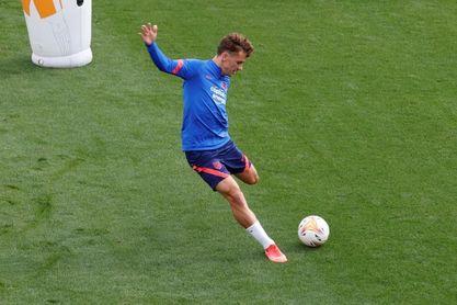 Griezmann entra en su primera convocatoria en su retorno al Atlético