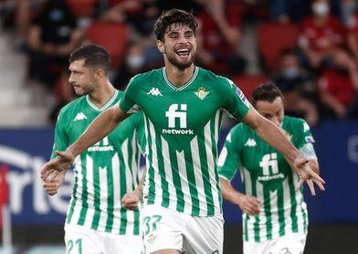 1-3. Un solvente Betis vence a un Osasuna sin fuelle