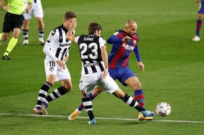 El Levante siempre ha perdido en el Camp Nou