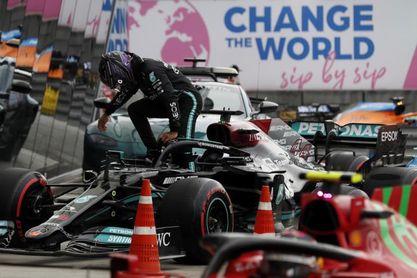 """Hamilton, sobre su golpe en la Q3: """"Fue cien por cien culpa mía"""""""