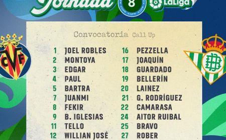 William Carvalho, la gran novedad de la convocatoria del Betis para el duelo contra el Villarreal