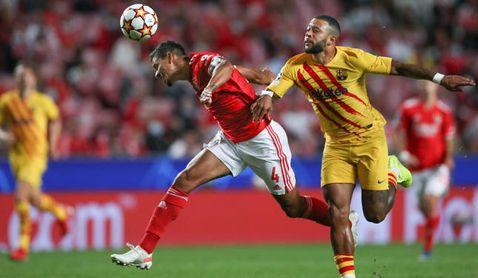 Sevilla y Betis espiaron el Benfica - Barça, donde jugó el cotizado Veríssimo