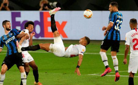 Diego Carlos sobre su gol en la final de la Europa League y su ambición en la Champions