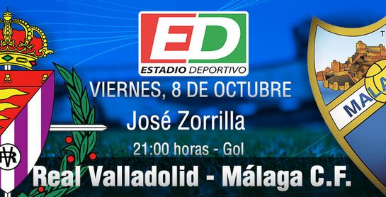 El Málaga desea estrenarse con victoria a domicilio ante un Valladolid plagado de bajas.